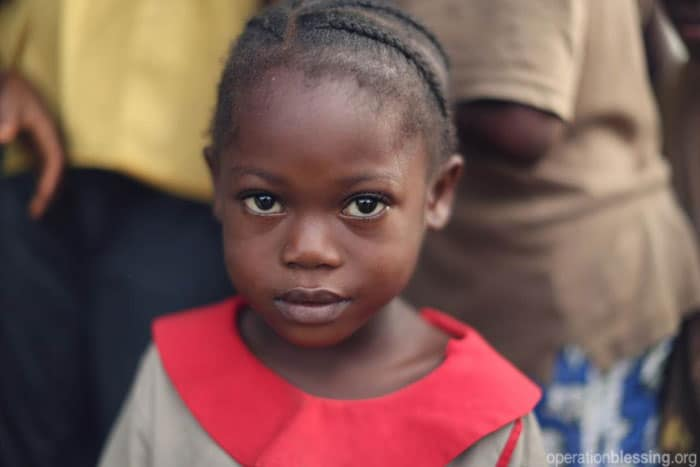 Operation Blessing brings aid to orphans threatened by Ebola, providing much-needed food supplies and chlorine for hand-washing and disinfecting surfaces at an orphanage in Liberia