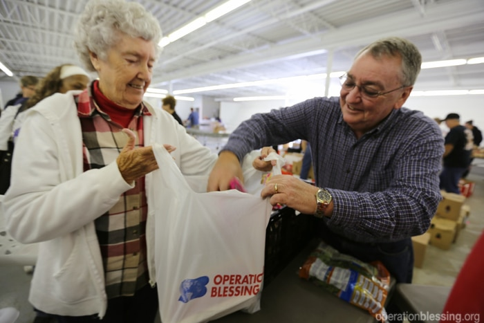 Operation Blessing brings hope to hungry families when they need it most