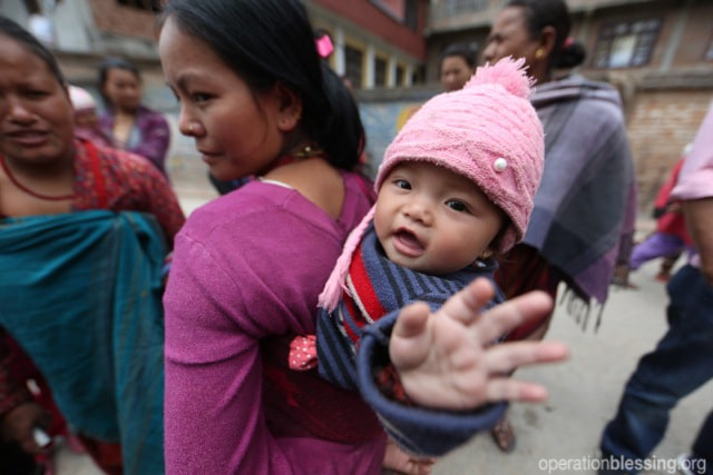 Families in need in Nepal.
