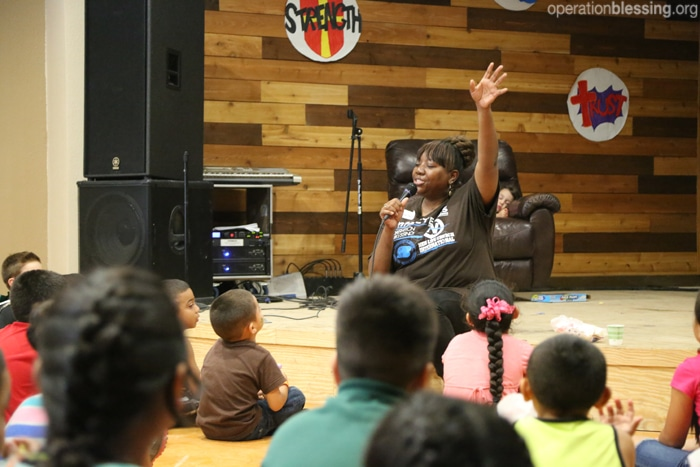 Children attend a special program in Texas.