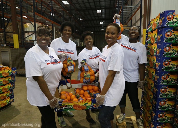 Members of Operation Blessing's Impact Trip bring hope and help to those in need in San Antonio, Texas