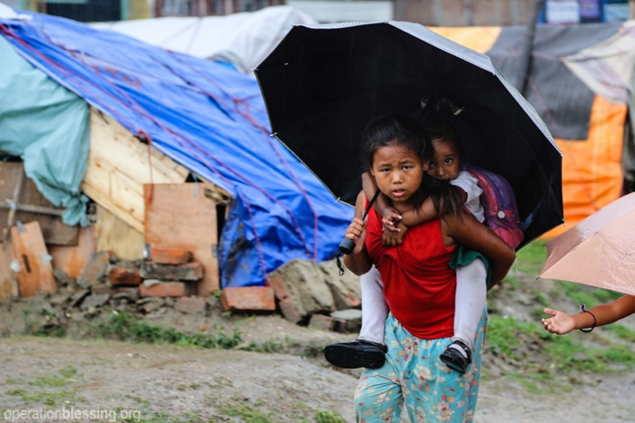 Monsoon season hits Nepal