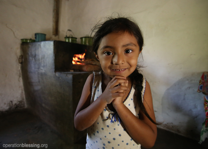 Operation Blessing-trained community health workers provide life-saving help to a little girl in Honduras.