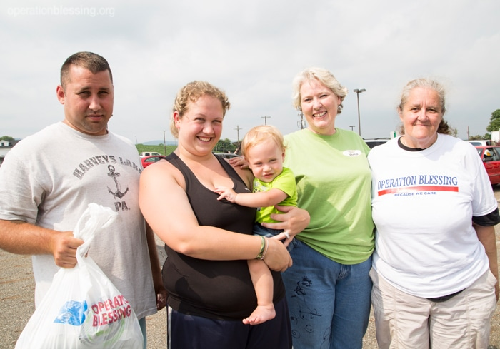 An Operation Blessing-supported food pantry helps a struggling family make ends meet