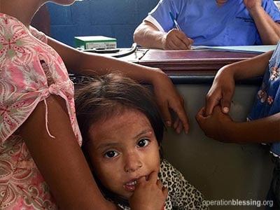Medical care in remote Guatemala.