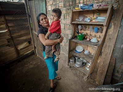 Leri's children went hungry when she couldn't find enough work.