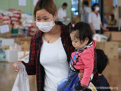 Operation Blessing provides hope and help for flood victims in Japan through relief distributions