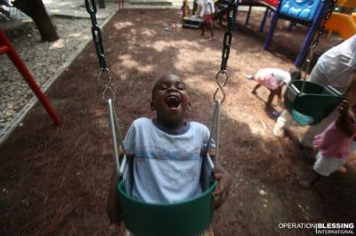 Playing with the Children of Zanmi Beni in Haiti