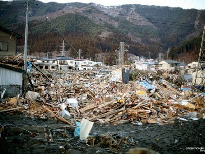 Supplies and Warmth for Otsuchi