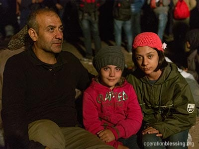 Operation Blessing is providing hope and help to displaced and refugee families from Syria