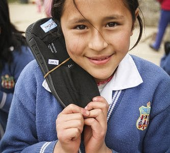 TOMS Shoes Excite Peruvian Kids