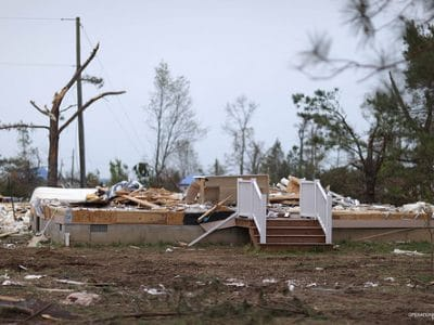 Tornado Destroys Homes in Deltaville, VA