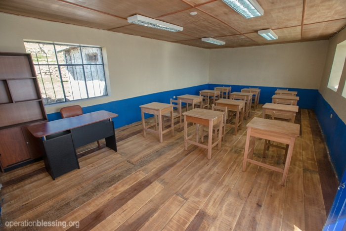 The school after Operation Blessing's help.