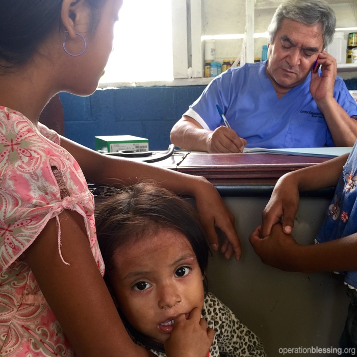 Medical care in remote Guatemala.
