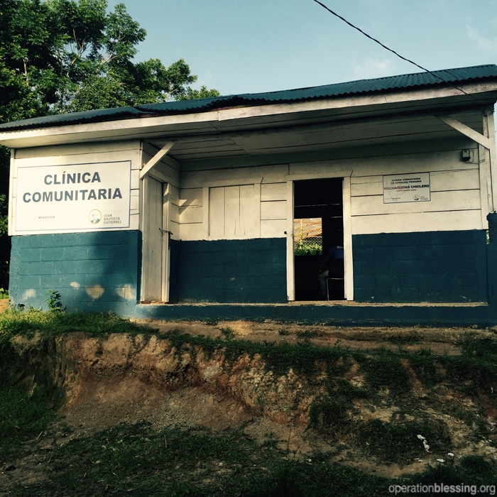Medical clinic in rural Guatemala.