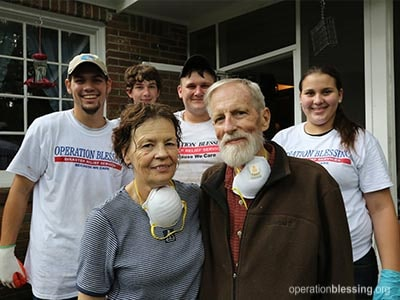 Operation Blessing volunteers touch the lives of flood victims in Columbia, South Carolina