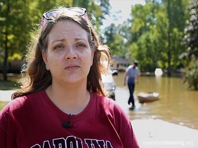 A victim of historic flooding in South Carolina.
