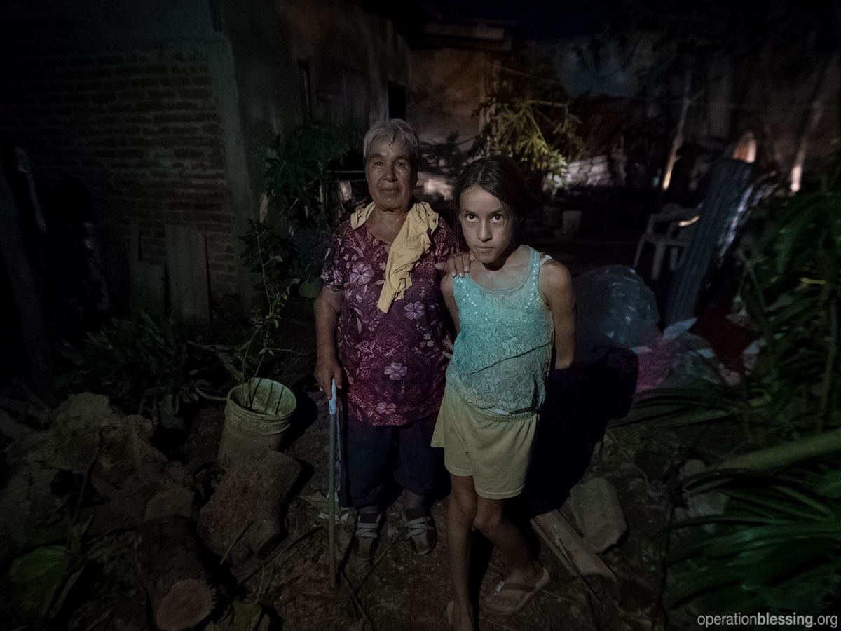 Maria and Sara's home suffered damage in Hurricane Patricia, including a damaged roof.