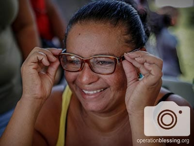Norma received free medical care at the OB Honduras medical brigade.