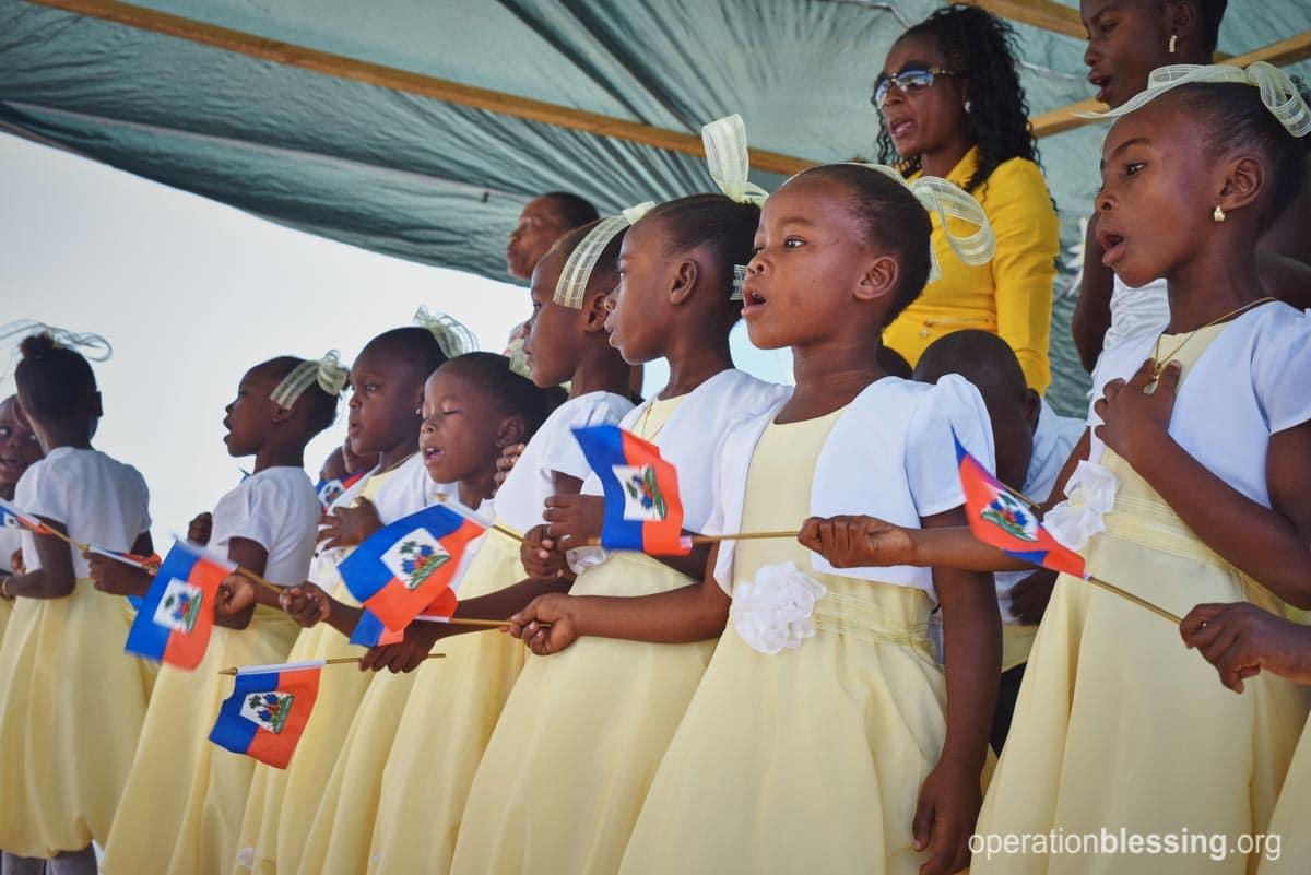 Students at ENLA School in Haiti.