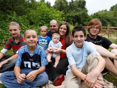 This growing family of six needed help putting food on the table.