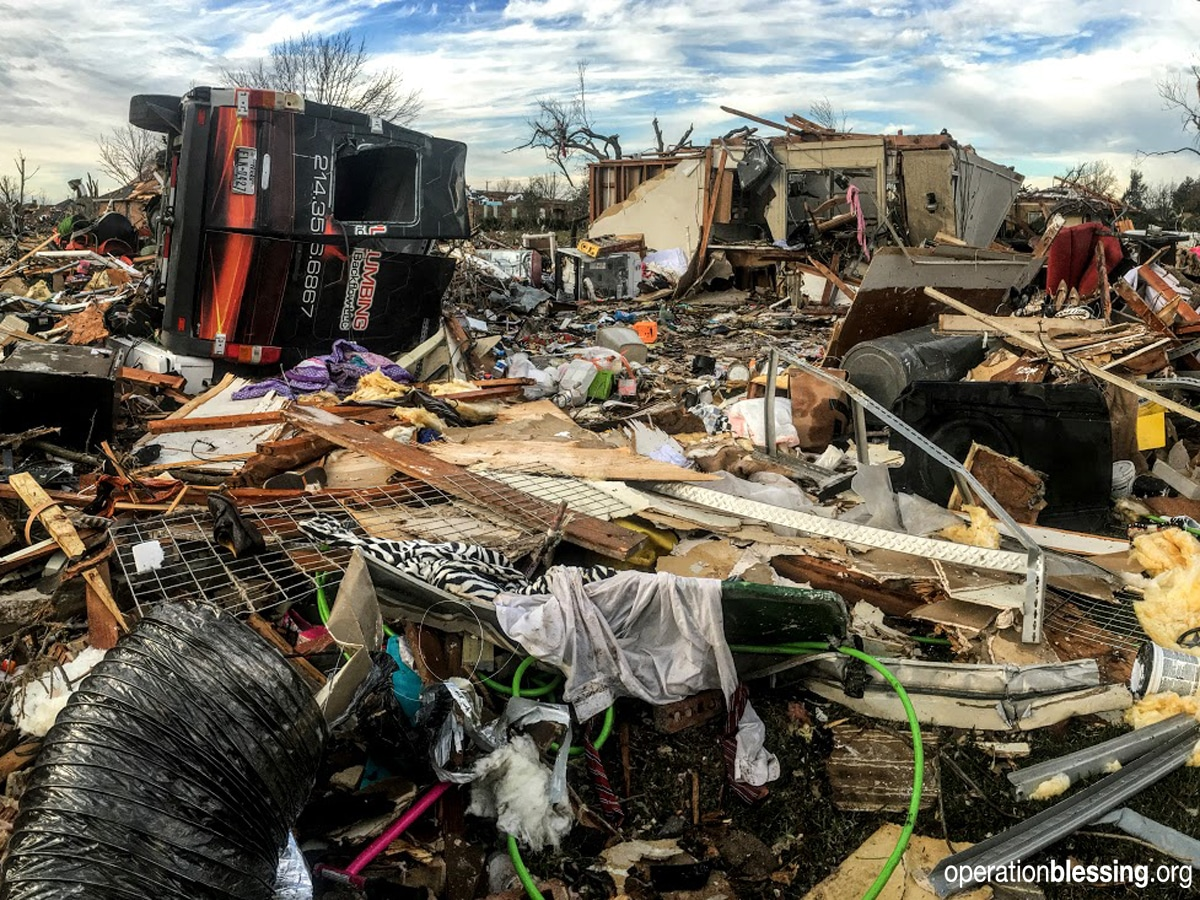 Operation Blessing begins disaster relief in Texas towns devastated by tornadoes