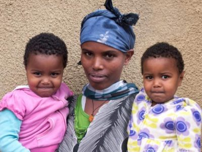 Lingersh was begging on the streets of Ethiopia to support her twin daughters.