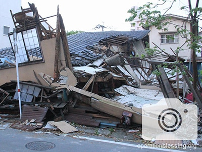 Destruction left behind by the deadly earthquake