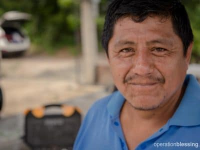 Casimiro, an Ecuador earthquake hero.