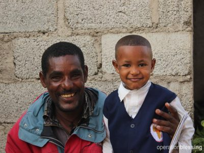 Operation Blessing partner Embracing Hope Ethiopia is helping this man living with HIV care for his family