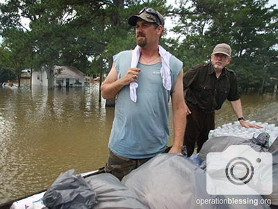 OBI President Bill Horan joins the team to bring relief to Louisiana families