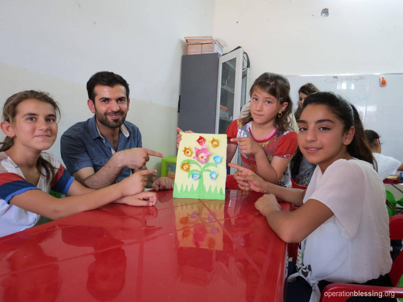 Kids in Iraq share their artwork.