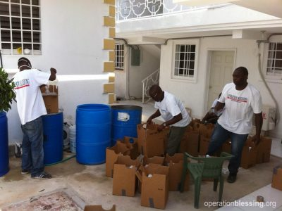As Hurricane Matthew threatens Haiti, Operation Blessing manufactures chlorine.