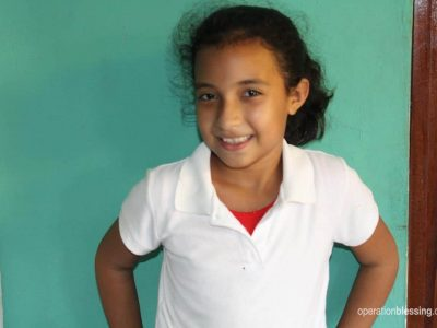 Gaby from Nicaragua offers a smile