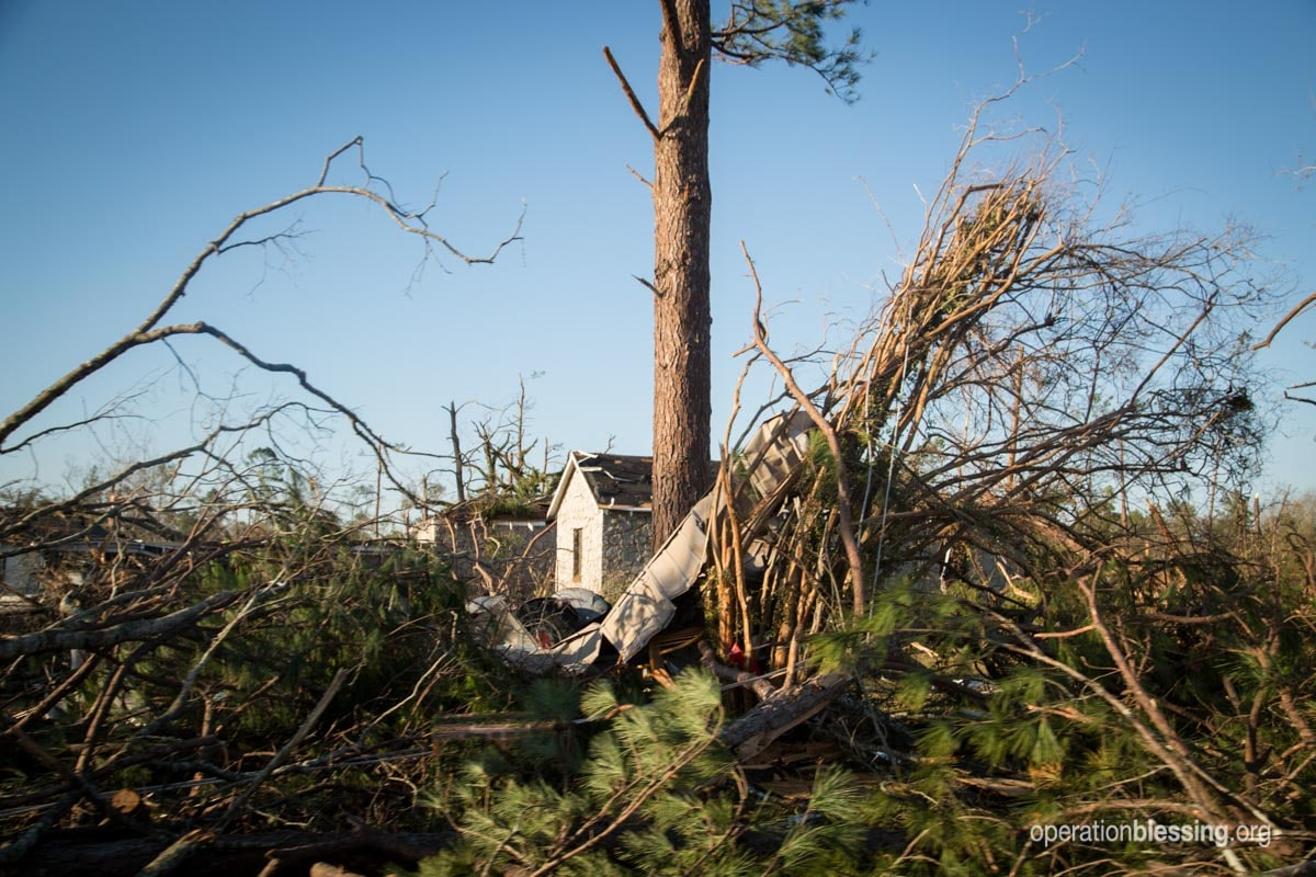 Tornado damage in the small Georgia community of Albany.