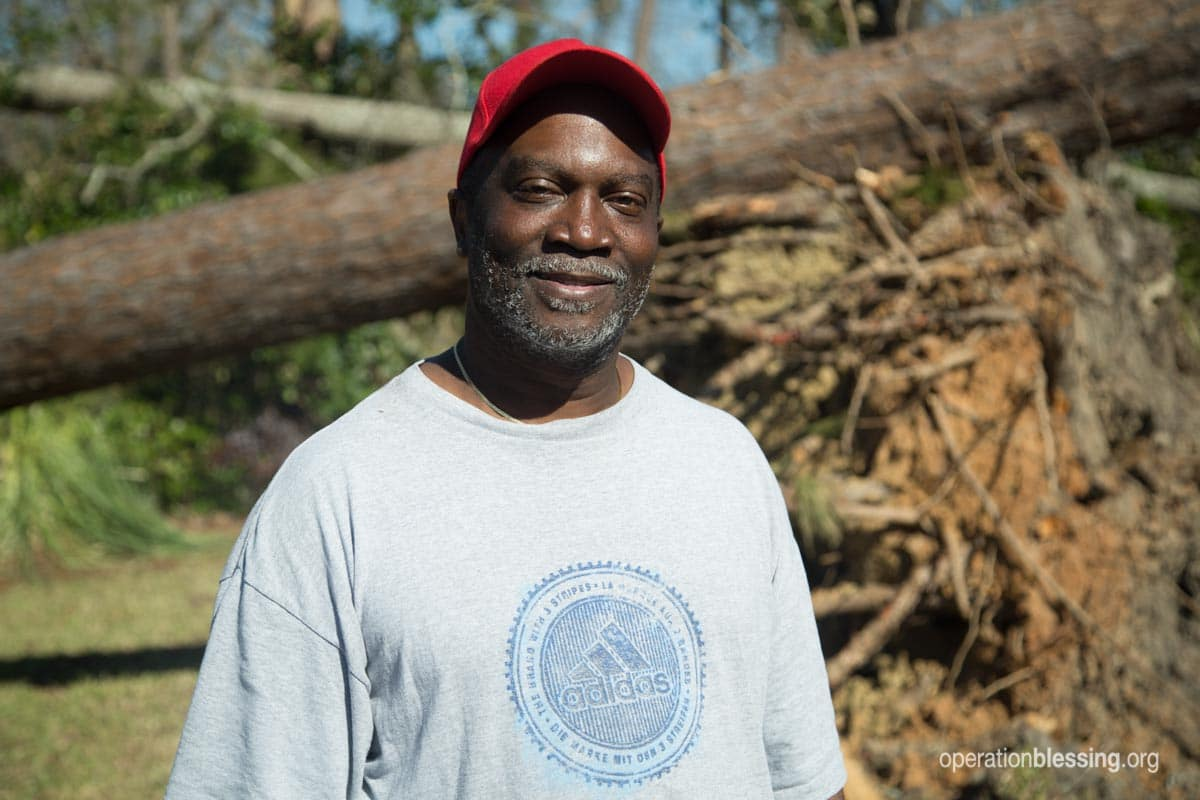 Robert smiles, thankful for the help he's received.