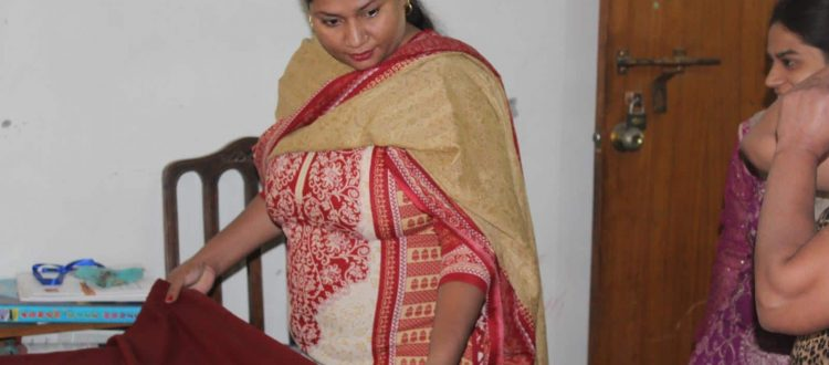 Safia with her sewing as life comes full circle.