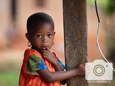 A child in Zanzibar.