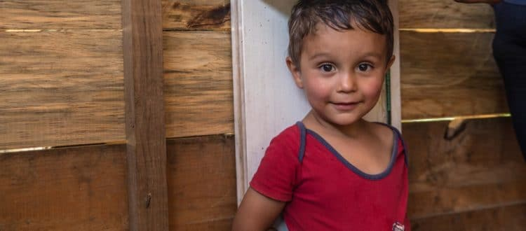 Joel has his growth checked at an Operation Blessing community health program in the mountains of Honduras.