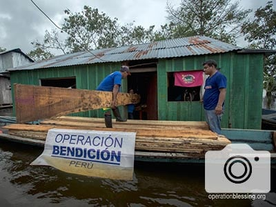 Operation Blessing teams deliver aid after floods and mudslides.