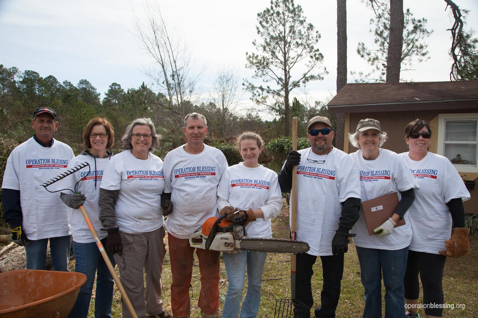 April Happenings kicks off as Operation Blessing volunteers gather to help residents in Albany, Georgia after a powerful EF3 tornado struck.