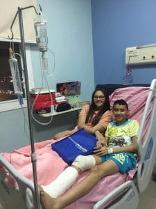 Young victims of the Palm Sunday attack in Tanta, Egypt smile from a hospital bed.