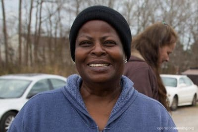 LaVerne smiles, thankful for the welcome and help she's received from House of Blessing.