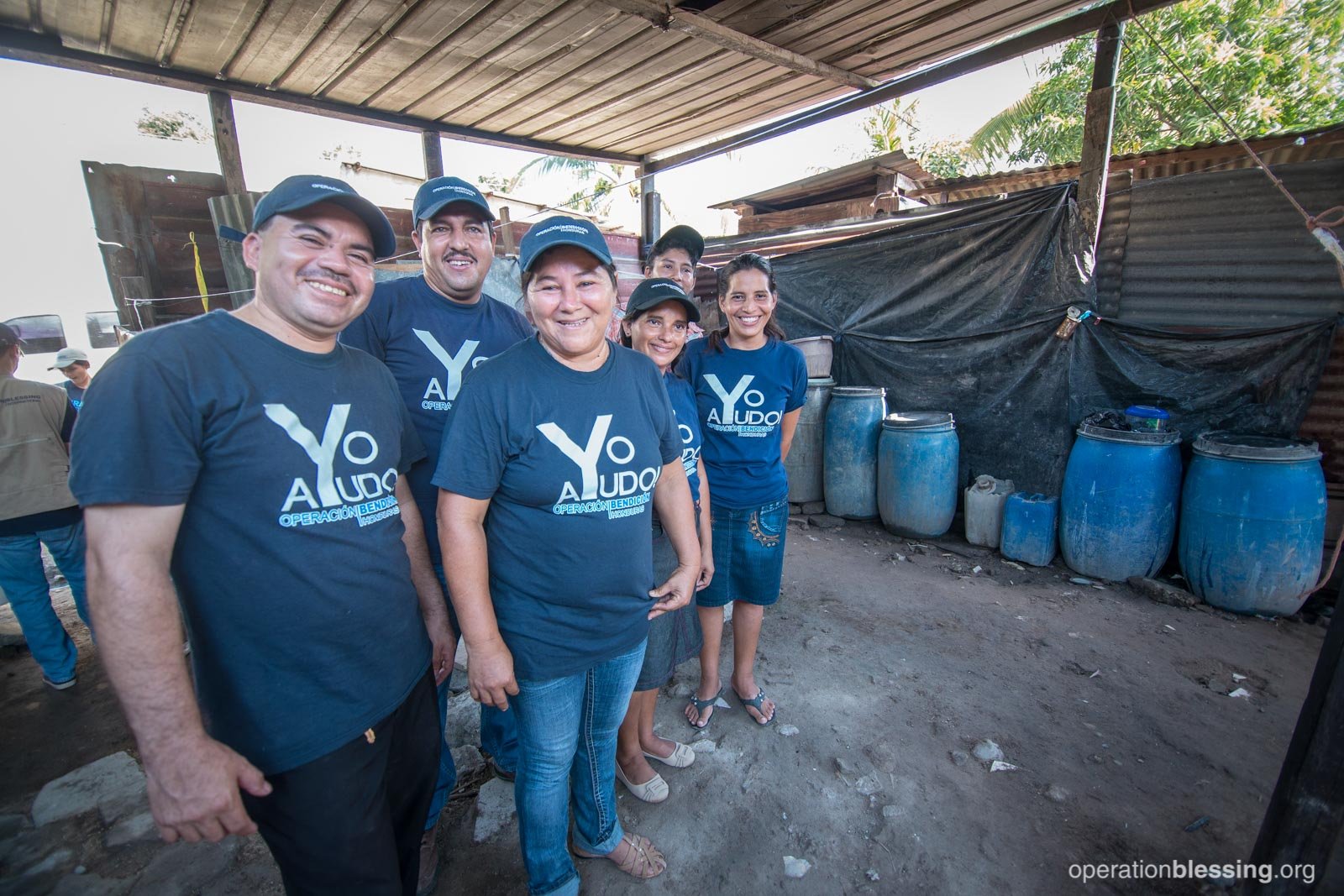 Standing here are Operation Blessing volunteers in Honduras, who are dedicated to helping their community wipe out the mosquito-borne threat of illnesses.