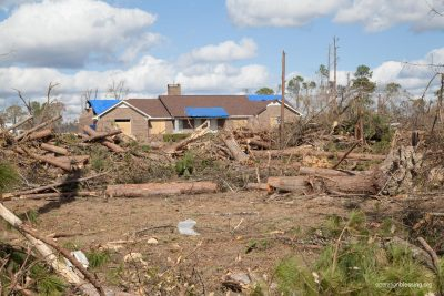 Damage from the deadly tornado.