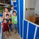 Thanks to OBI, Margot and her four children, Angela, 3, Harinson, 7, Roberto, 9, and Andy, 14, have a home that is clean and safe.
