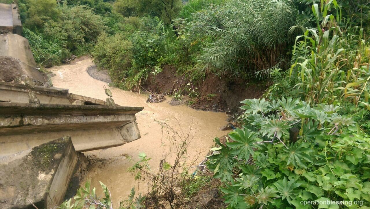 Damage to infrastructure and bridges has make it difficult for OBI Guatemala to reach some of the areas affected by the earthquake.