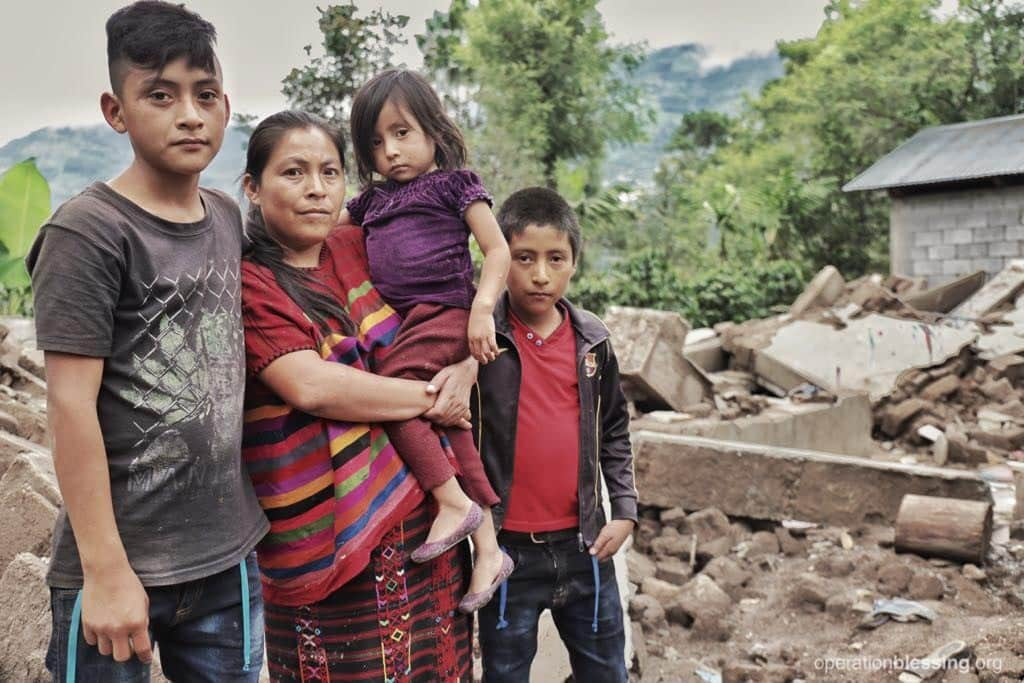 Florinda and her family lost their home in the recent Guatemala earthquake.