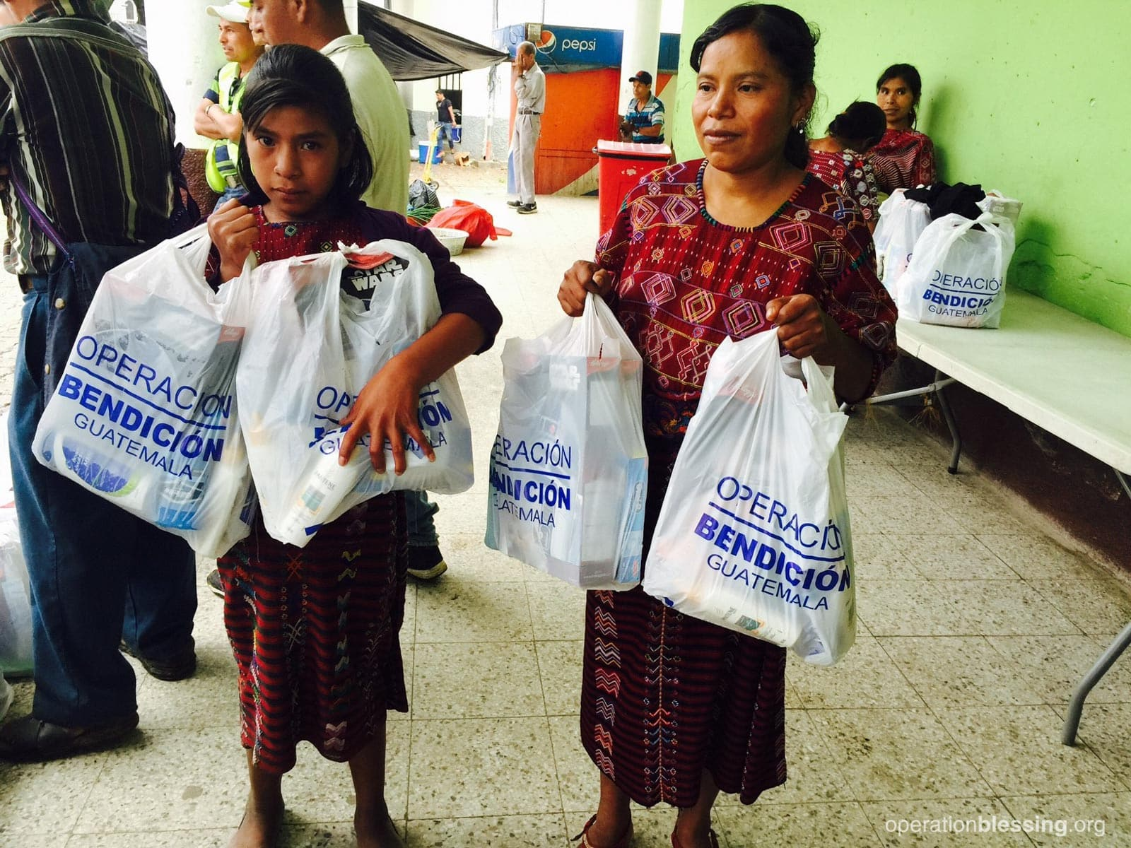 Operation Blessing provides food and hygiene supplies for earthquake survivors in Guatemala.