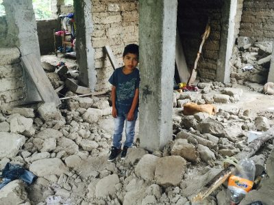 Many earthquake survivors, like young Henry in Guatemala, have lost everything, but OBI is there to help.